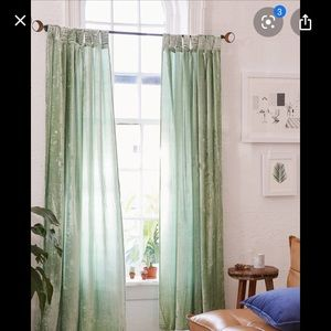 COPY - Urban outfitters crushed velvet  curtain  …